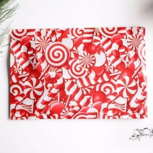 50 candy canes designer 6x9 poly mailers